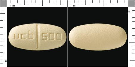 Keppra, Filmdragerad tablett 500 mg , UCB Nordic