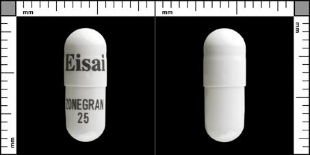 Zonegran®, Kapsel, hård 25 mg , Eisai